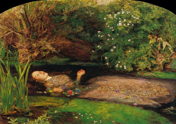 Millais, John Everett: Ophelia. (A Scene from Shakespeare's Hamlet) Fine Art Print/Poster. Sizes: A4/A3/A2/A1 (00234)